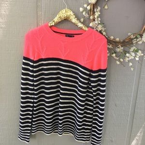 Gap color block striped sweater. Size Large.